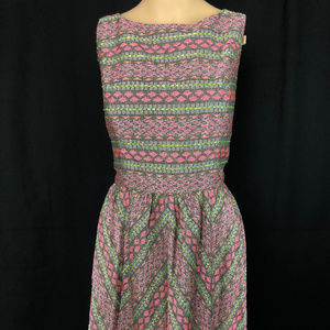 Adrianna Papell Fit & Flare Woven Dress 12 NWOT